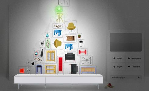 Felicitaci n de navidad para ikea llops blog for Muebles decorados de navidad